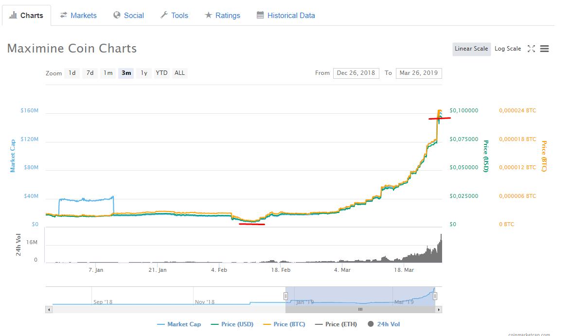 MXM Coin grafik