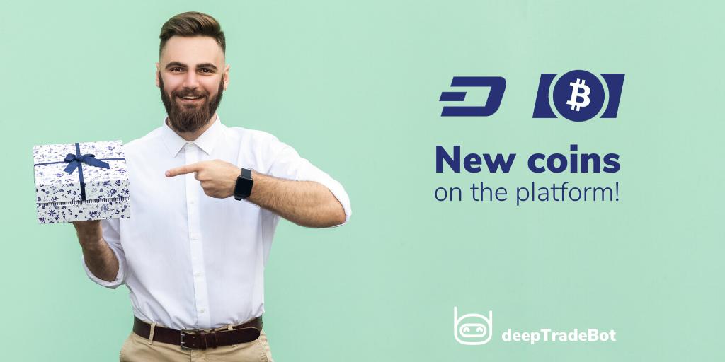 DeeptradeBot Ödeme Seçeneklerine DASH ve BCH'yi Ekledi