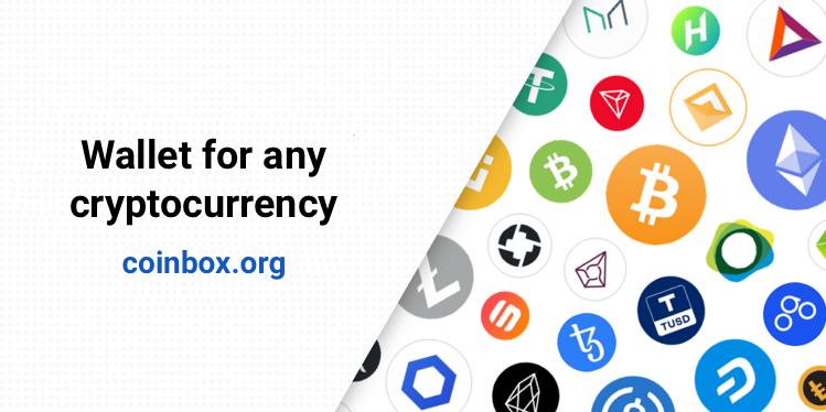 Coinbox.org cüzdanı artık tüm ETH, BNB, TRX ve EOS tokenlerini destekliyor