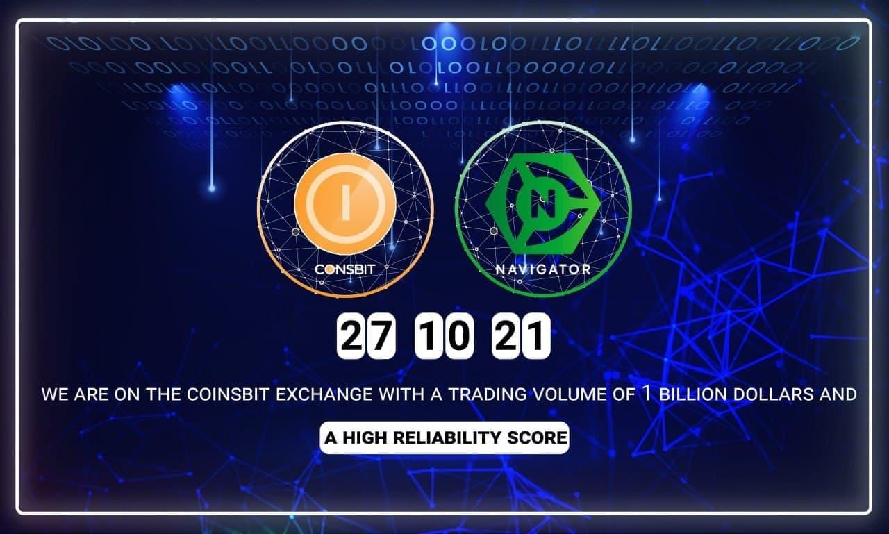 Navigator (NTTC) Token 27 Ekim'de Coinsbit Borsasında İşleme Başlıyor!